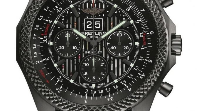 Breitling for Bentley 6.75 Midnight Carbon_On White
