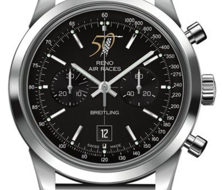 Swiss Breitling Transocean Chronograph Reno Air Races 50th Anniversary Fake Watches
